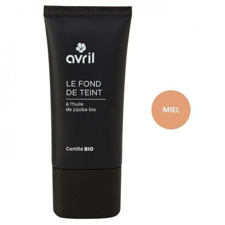 Maquillaje Fluido color Miel Bio 30 ml. Avril