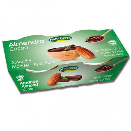 Postre Almendra Cacao Bio 2x125 gr. Naturgreen