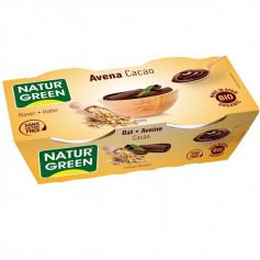 Postre Avena Cacao Bio 2x125 gr. Naturgreen
