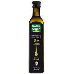Aceite Lino 1ª Presión en frío Bio 500 ml. Naturgreen