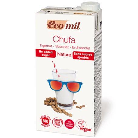 Bebida de Chufa Nature sin azúcar Bio 1 l. Ecomil