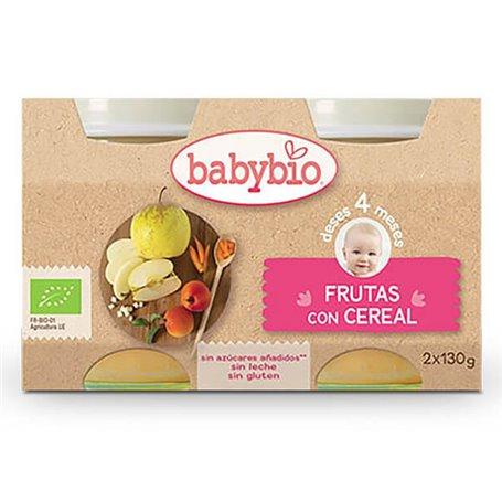 Potito Fruta Cereal Bio 2x130 gr. Babybio