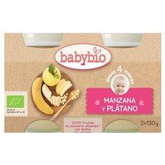 Potito Manzana Plátano Bio 2x130 gr. Babybio