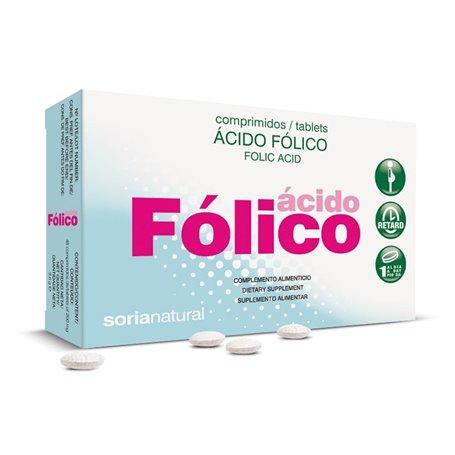 Ácido Fólico Viamina B9 200 mg. Retard 200 ud. Soria Natural