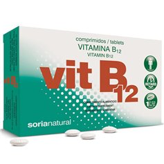 Vitamina B12 20 mg. Retard 200 ud. Soria Natural