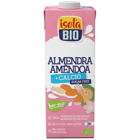 Bebida Almedra Calcio s/azúcar Bio 1 l. IsolaBio