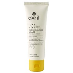 Crema solar facial SPF30 Bio 50 ml. Avril