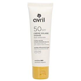 Crema solar facial SPF50 Bio 50 ml. Avril
