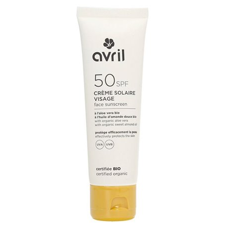 Crema solar facial SPF50 Bio 50 ml. Avril