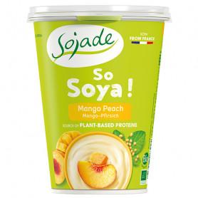 Yogur Soja Mango Melocotón Ecológico 400 gr. Sojade
