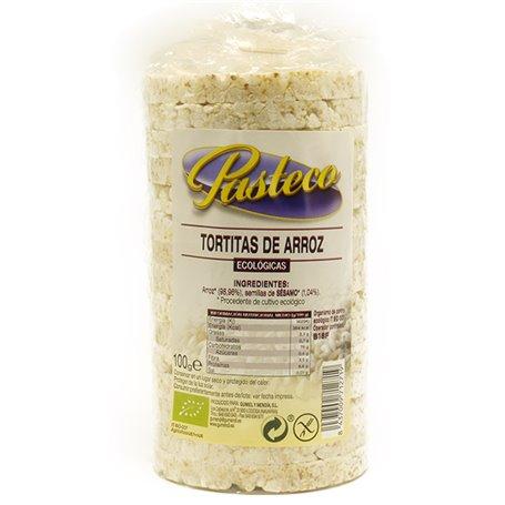 Tortitas arroz sin sal 100 gr. Pasteco