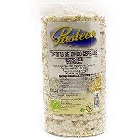 Tortitas 5 Cerales Ecológicas 100 gr. Pasteco
