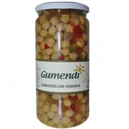 Garbanzos con Verduras Bio 720 gr. Gumendi