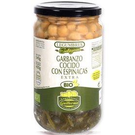 Garbanzos Espinacas Cocidos Bio 540 gr. Guillermo