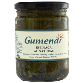 Espinacas conserva Bio 400 gr. Gumendi