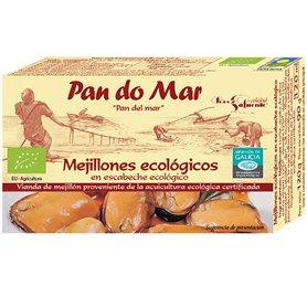 Mejillones en escabeche Bio 115 gr. Pan do Mar