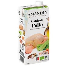 Caldo Pollo Bio 1 l. Amandin