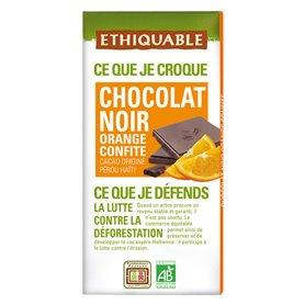 Chocolate Naranja Confitada Bio 100 gr. Ethiquable