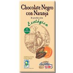 Chocolate Negro 56% con Naranja Bio 100 gr. Solé