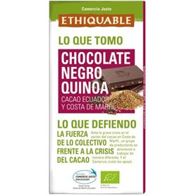 Chocolate Negro Quinoa Biojusto 100 gr. Ethiquable