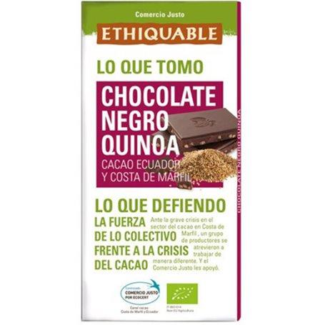 Chocolate Negro Quinoa Biojusto 100 gr. Ethiquable