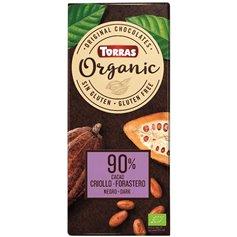 Chocolate Negro 90% Bio 100 gr. Torras