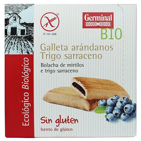 Galletas Sarraceno Arándanos sin gluten Bio 200 gr. Germinal