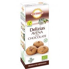 Galletas Delizias Avena Chocolate Bio 125 gr. BioDarma