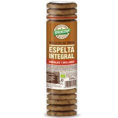 Galletas Espelta Integrales Chocolate Avellanas Bio 250 gr. Biocop