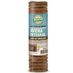 Galletas copos Avena integral chips Chocolate Bio 250 gr. Biocop