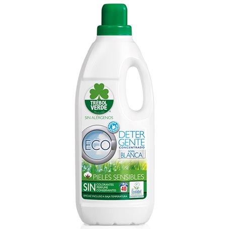 Detergente concentrado Ropa Blanca Bio 2 l. Trebol Verde
