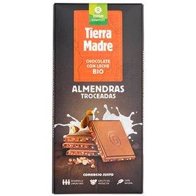 Chocolate leche Almendras Bio 100 gr. Comercio Justo Oxfam