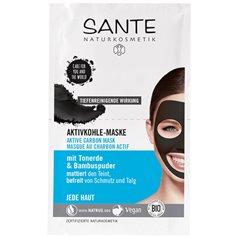 Mascarilla facial Carbón Activo Bio 2x4 ml. Sante