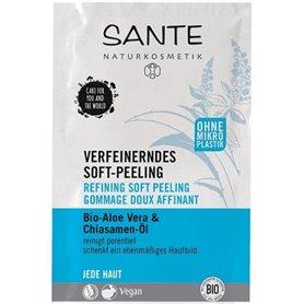 Mascarilla facial Exfoliante suave Bio 2x4 ml. Sante