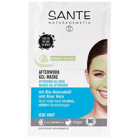 Mascarilla facial gel Afterwork Bio 2x4 ml. Sante