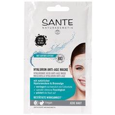 Mascarilla facial acido Hyalurónico AntiAge Bio 2x4 ml. Sante