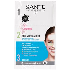 Mascarilla facial 3 en 1 Bio 3x3 ml. Sante