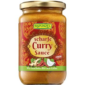 Salsa Curry picante Bio 350 ml. Rapunzel