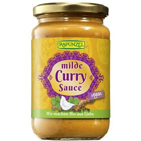 Salsa Curry suave Bio 350 ml. Rapunzel