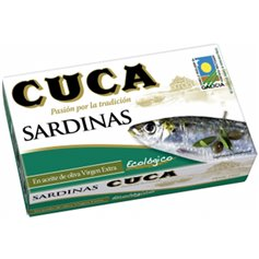Sardinas Oliva Virgen Extra Bio 120 gr. Cuca