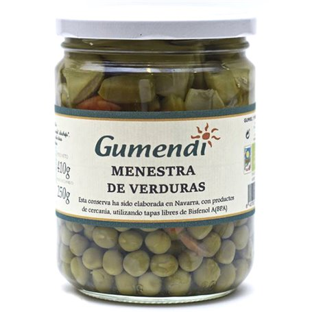 Menestra Macedonia Premium Verduras Bio 400 gr. Gumendi