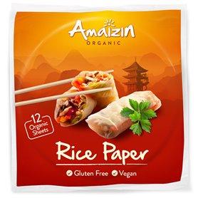 Láminas papel arroz Bio 12 ud. Amaizin