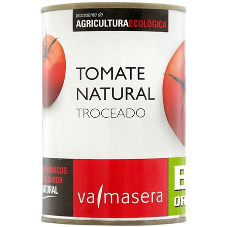 Tomate natural troceado Bio 390 gr. Valmasera