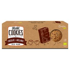 Galletas Chocolate Avellanas sin gluten Bio135 gr. Zealia