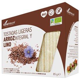 Tostadas Arroz Lino sin gluten Bio 85 gr. Soria Natural
