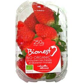 Fresas ecológicas bd. 250 gr.