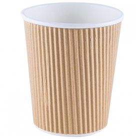 Vaso compostable papel kraft corrugado 12 ud. Betik
