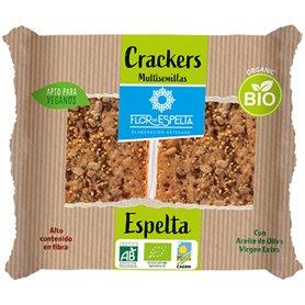 Crackers Espelta multisemillas Bio 125 gr. Flor de Espelta