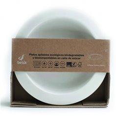 Plato caña azúcar biodegradable 16 cm. 6 ud.