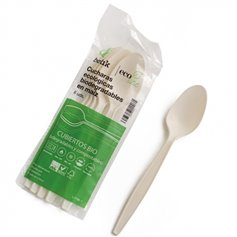 Cuchara Maíz compostable 100% reciclable 6 ud. Betik